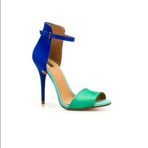 Zara Green Blue Sandals